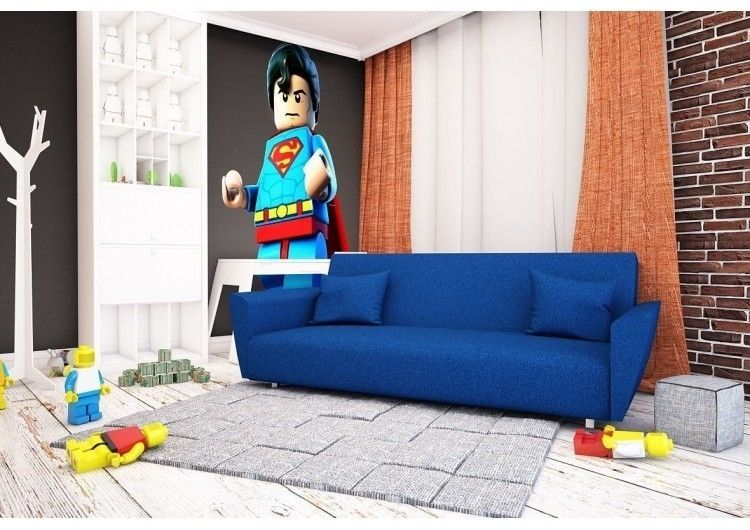 Диван Раевская мебельная фабрика Шинил синий 00442 - фото 1