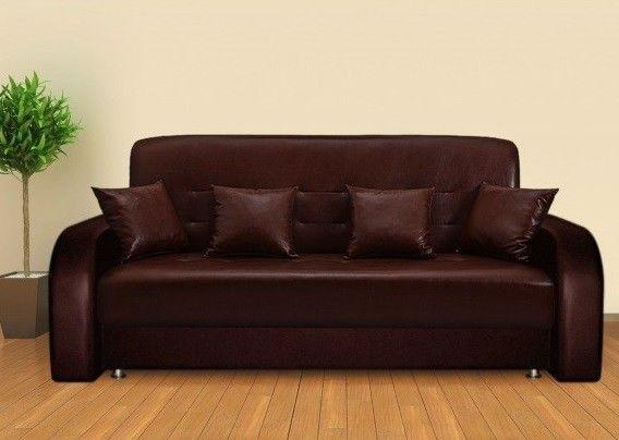 Диван Луховицкая мебельная фабрика Престиж коричневый (120x190) пружинный - фото 1