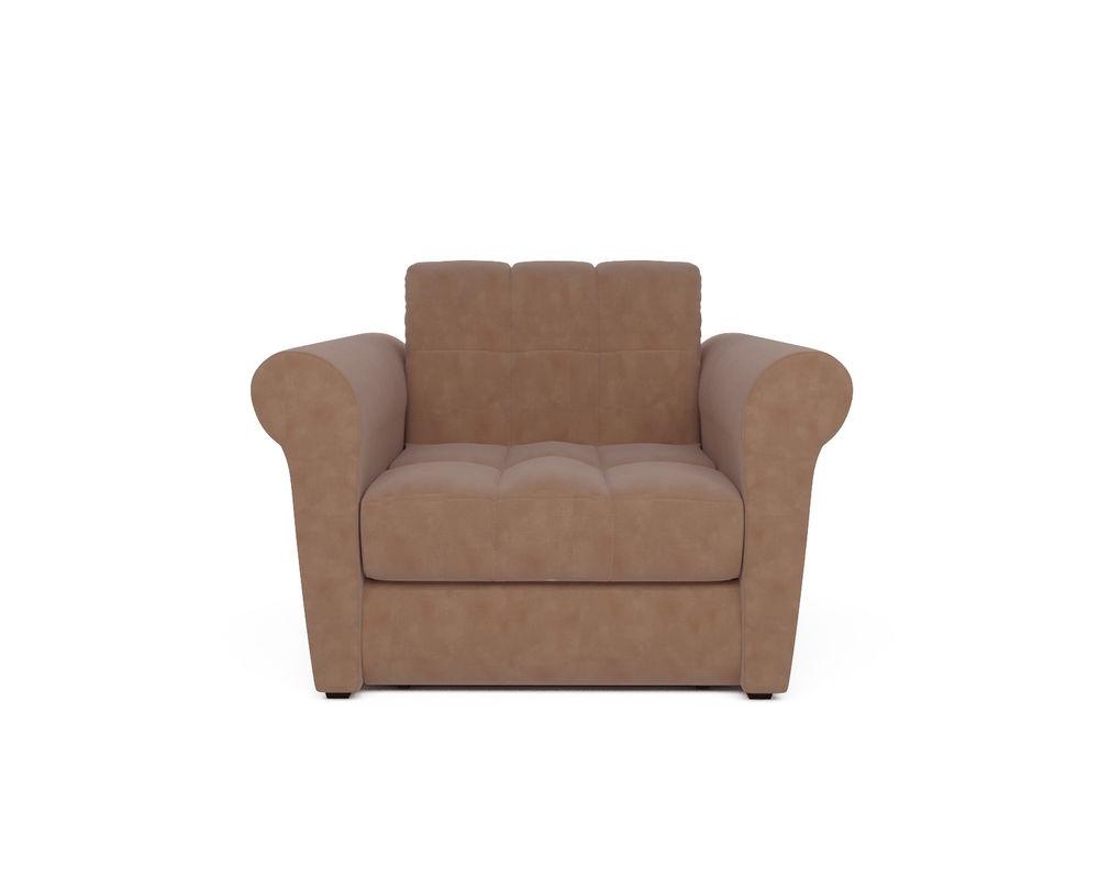 Кресло Мебель-АРС Гранд бежевый микровелюр (Luna 061) - фото 2