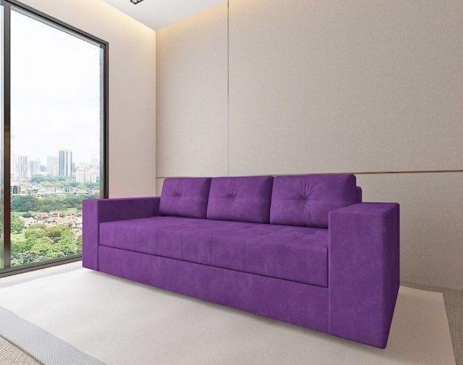 Диван Настоящая мебель Константин (фиолетовый) прямой - фото 1