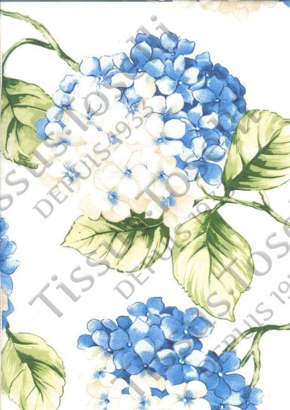 Tissus Toselli Скатерть Organza Hortensia Blue 140x140 - фото 1