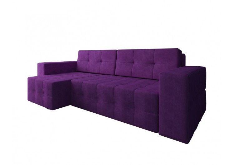 Диван Настоящая мебель Константин Питсбург угловой фиолетовый - фото 2
