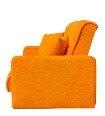 Диван Луховицкая мебельная фабрика Милан (Астра оранжевый) пружинный 140x190 - фото 4