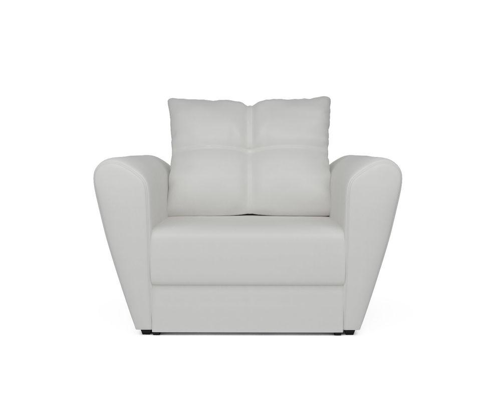 Кресло Мебель-АРС Квартет - экокожа белая - фото 2