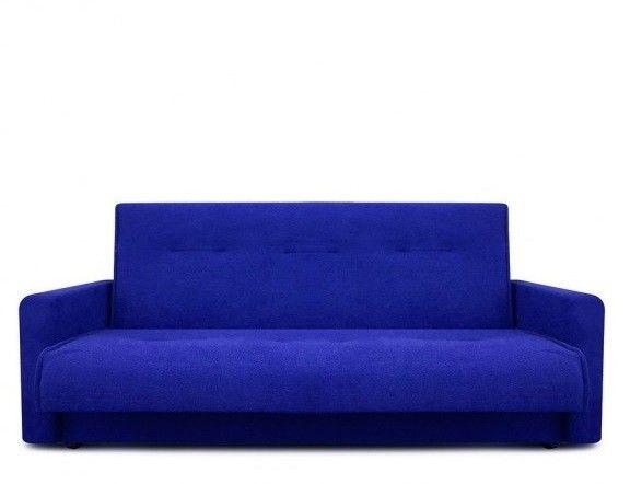 Диван Луховицкая мебельная фабрика Милан (Астра синий) пружинный 140x190 - фото 2