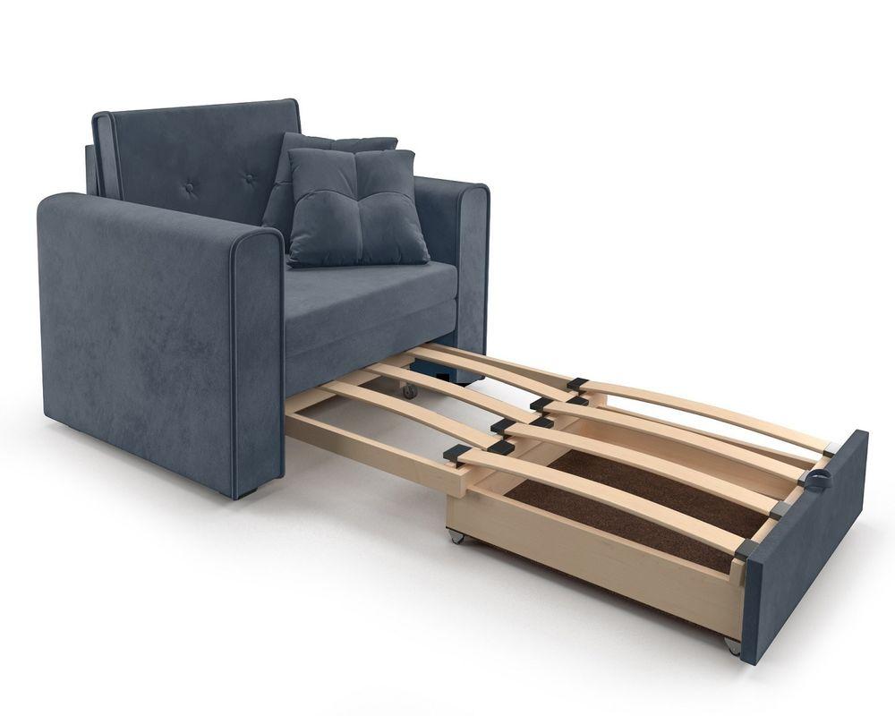 Кресло Мебель-АРС Санта (велюр серо-синий /НВ-178/26) - фото 6
