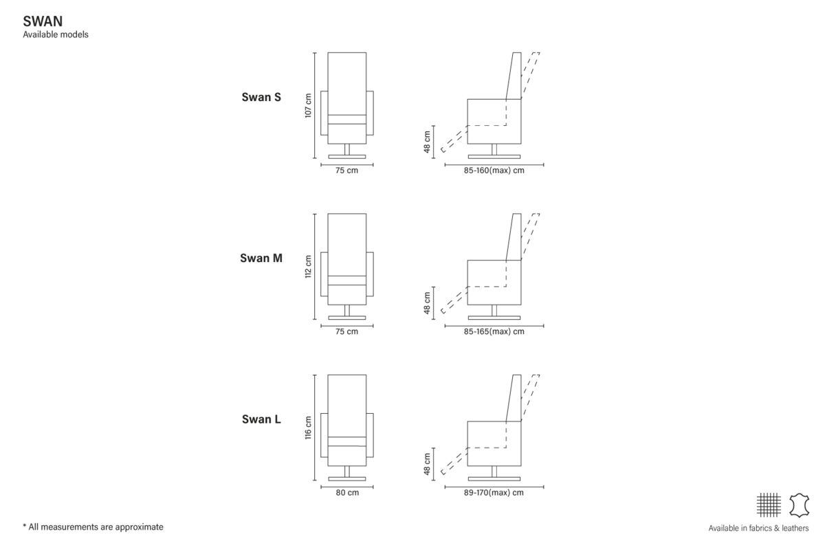 Кресло Bellus Swan с реклайнером - фото 5