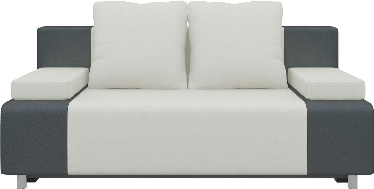 Диван Mebelico Чарли 63 экокожа белый/черный - фото 1