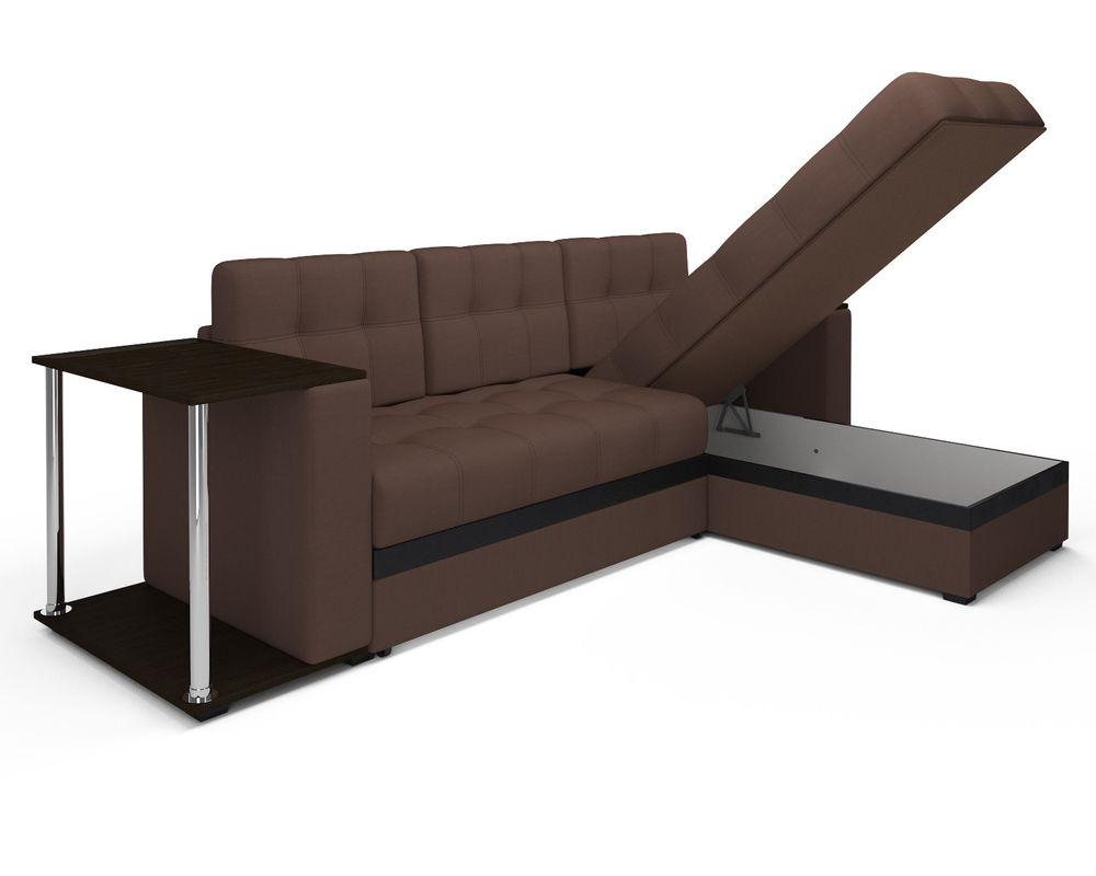 Диван Мебель-АРС Атланта (рогожка шоколад) - фото 4
