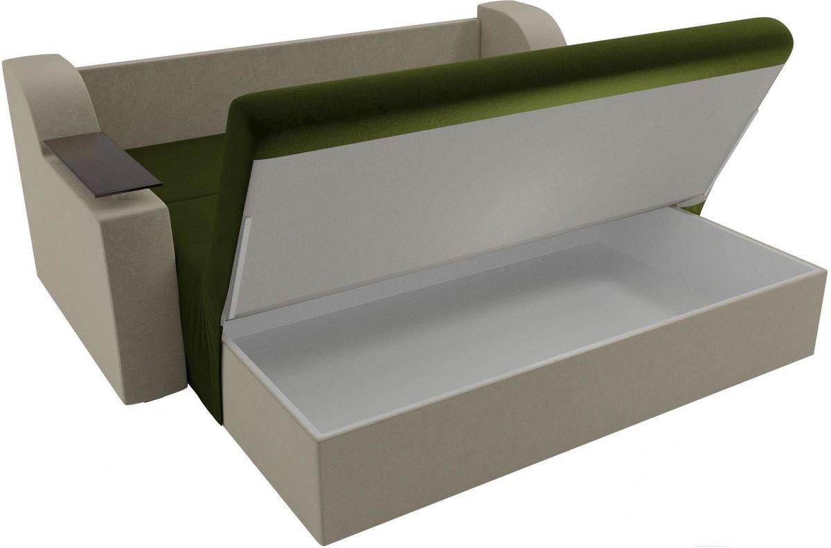 Диван Mebelico Сенатор 100711 160, микровельвет зеленый/бежевый - фото 6