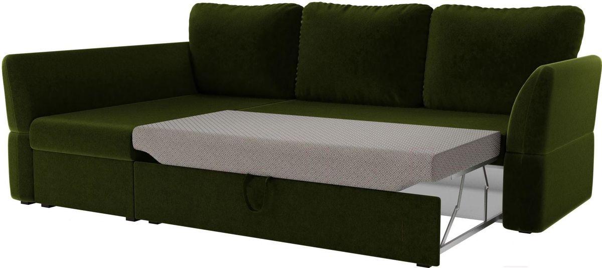 Диван Mebelico Гесен 100 левый 60059 микровельвет зеленый - фото 3