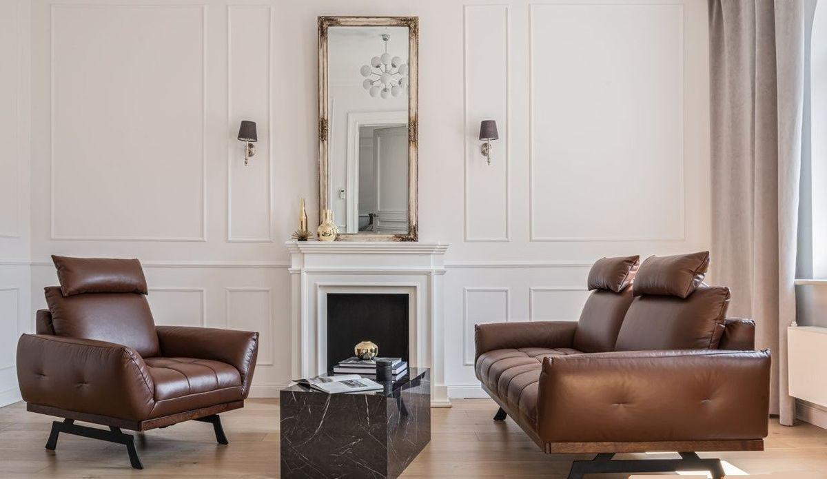 Набор мягкой мебели Gala Collezione Nicea (натуральная кожа) - фото 1