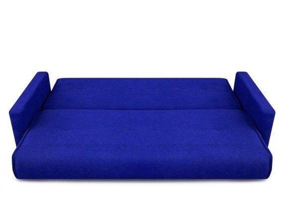 Диван Луховицкая мебельная фабрика Милан (Астра синий) пружинный 120x190 - фото 4