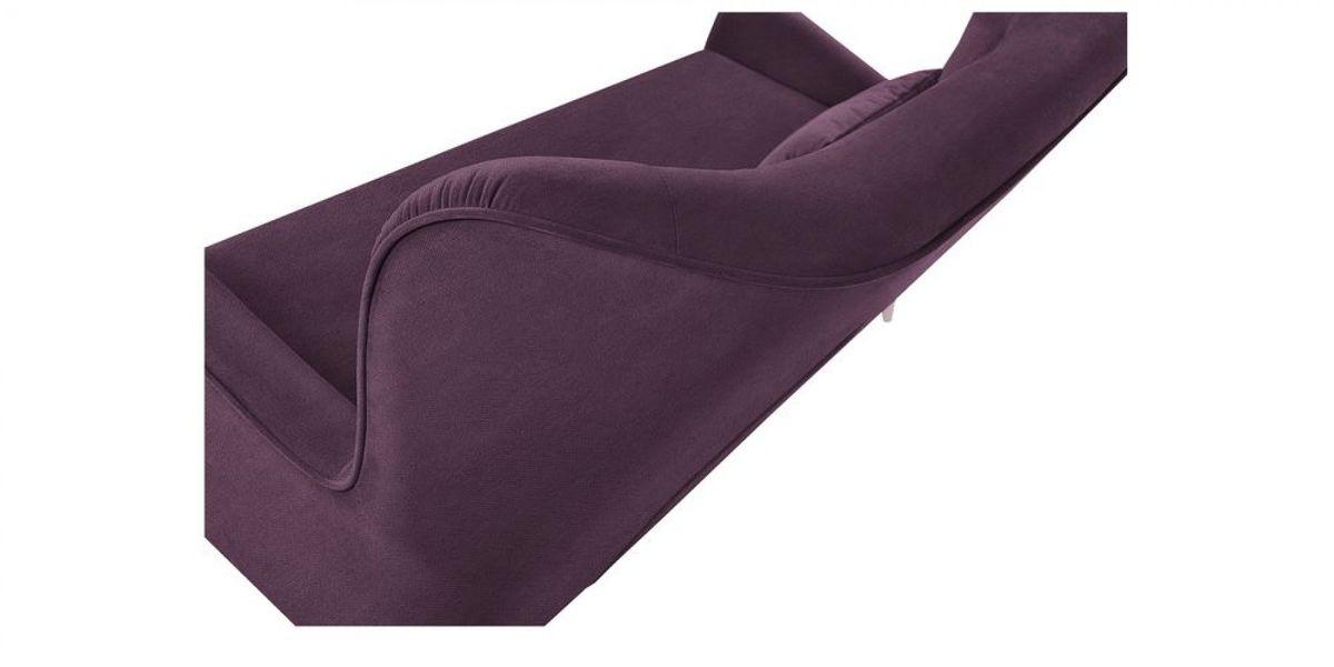 Диван WOWIN Амели Темно-фиолетовый велюр (2.5-местный) - фото 4