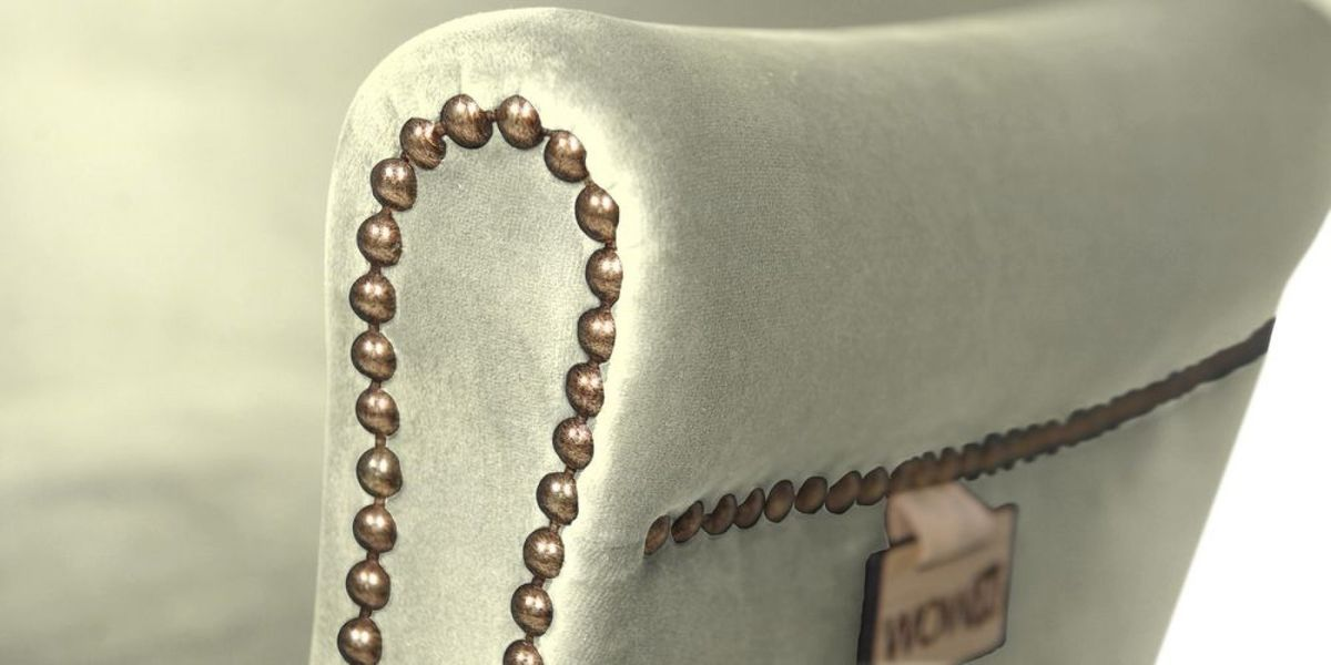 Кресло WOWIN Голден (Кремовый велюр) - фото 6