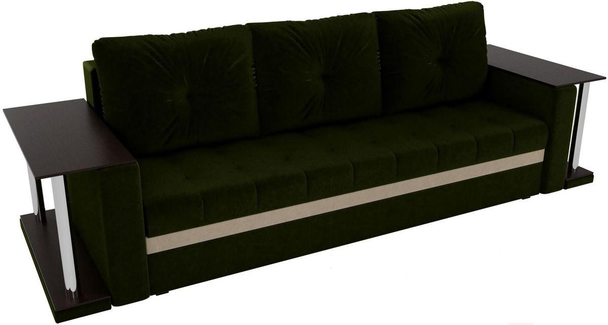 Диван Mebelico Атланта М 2 стола вельвет зеленый - фото 3