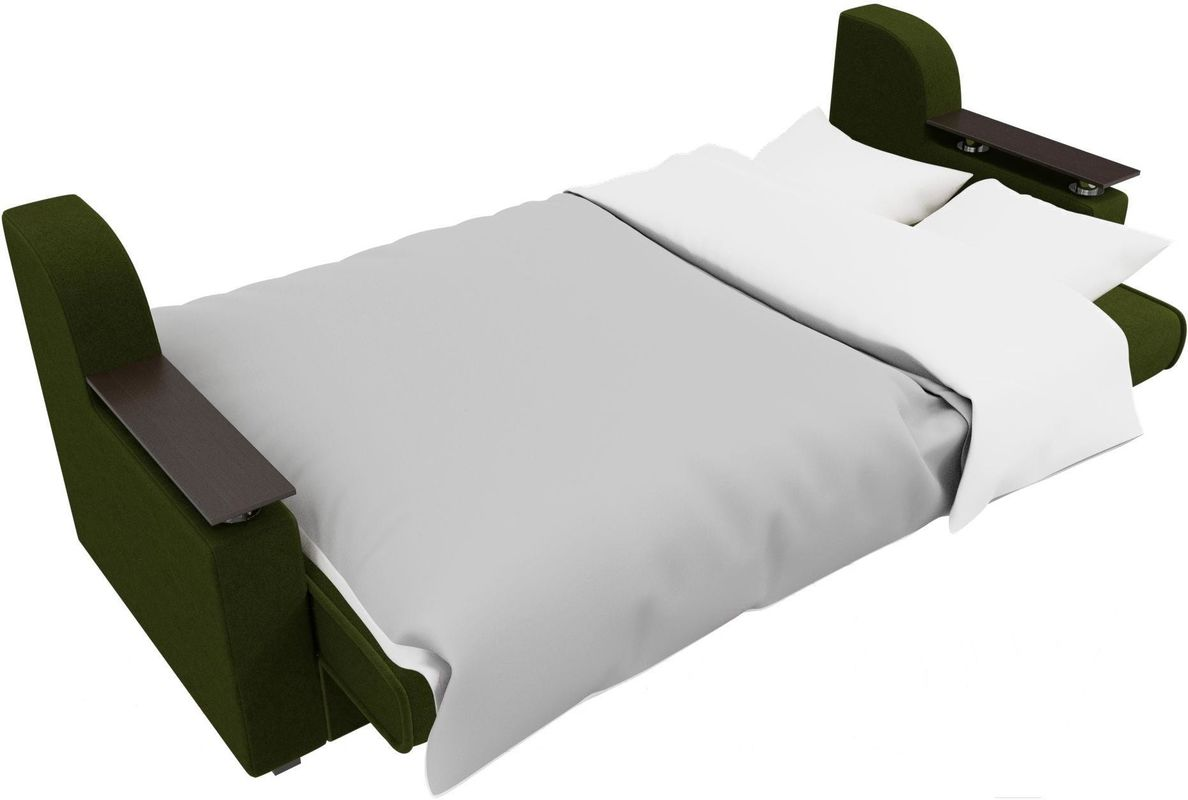 Диван Mebelico Сенатор 100615 микровельвет зеленый - фото 6