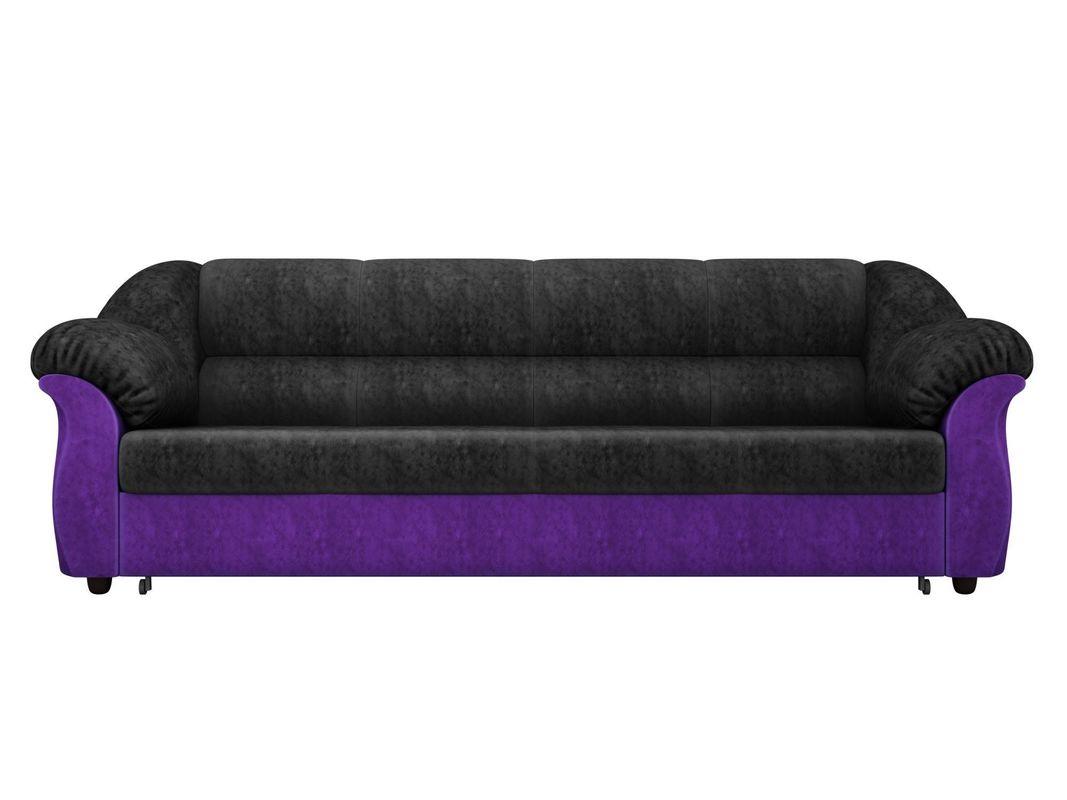 Диван ЛигаДиванов Карнелла 114 60398 велюр черный/фиолетовый - фото 2