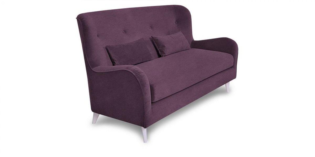 Диван WOWIN Амели Темно-фиолетовый велюр (2.5-местный) - фото 1
