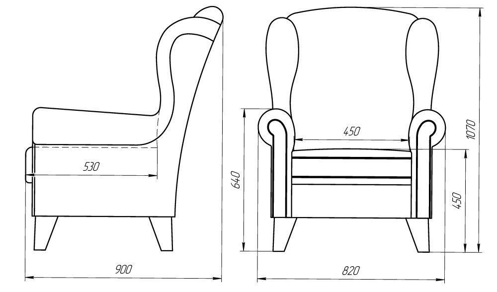 Кресло LAMA мебель Орлеан 1 - фото 2