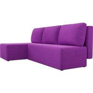 Диван АртМебель Поло угол левый микровельвет фиолетовый - фото 5