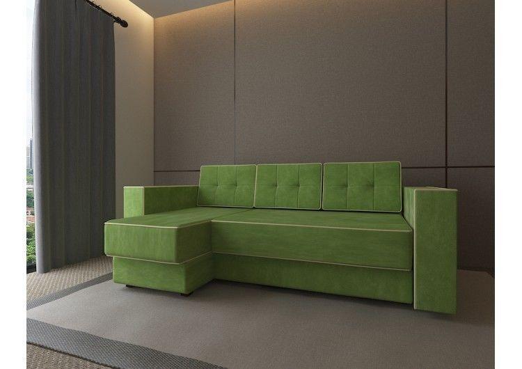 Диван Настоящая мебель Константин Орландо угловой зеленый - фото 1