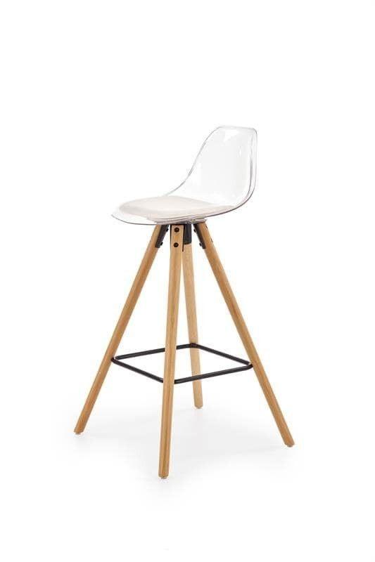 Барный стул Halmar H-91 (белый/бук) - фото 1