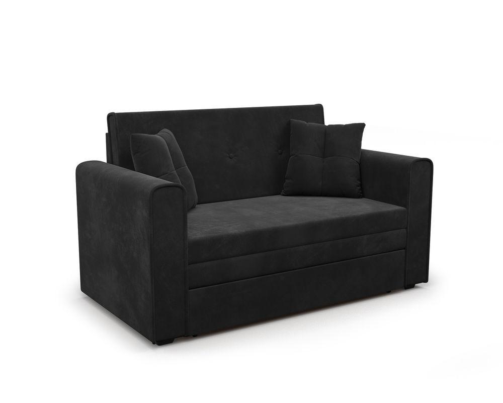Диван Мебель-АРС Санта (НВ-178/17 / велюр черный) - фото 1