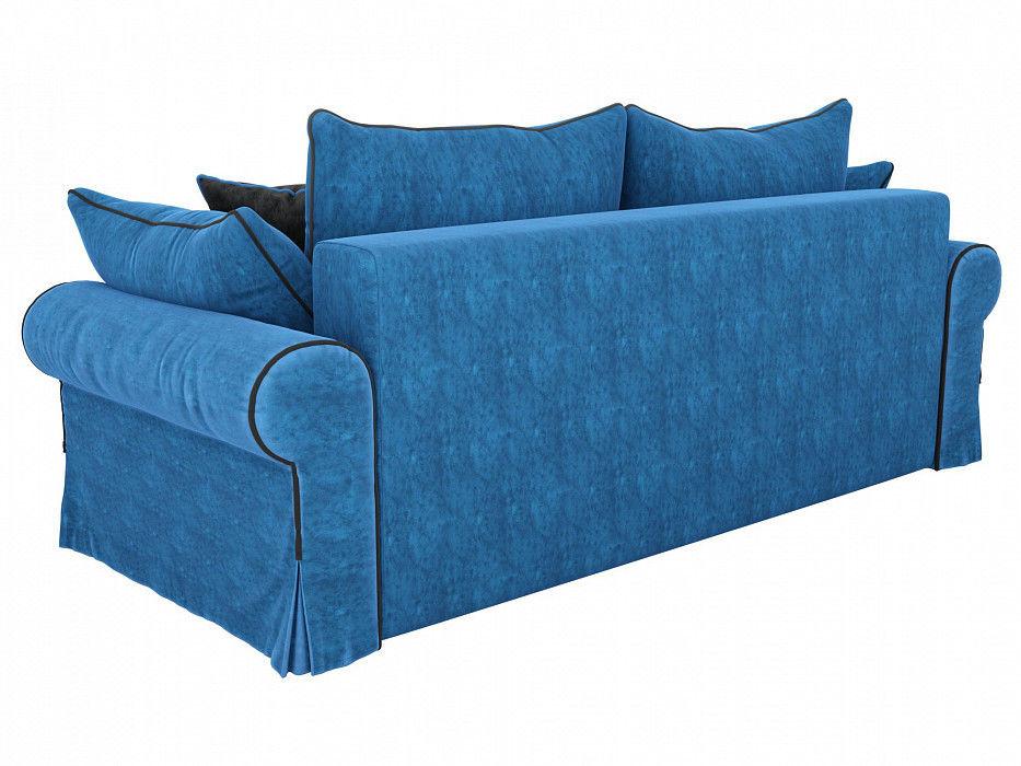 Диван Mebelico прямой Элис Велюр голубой - фото 3