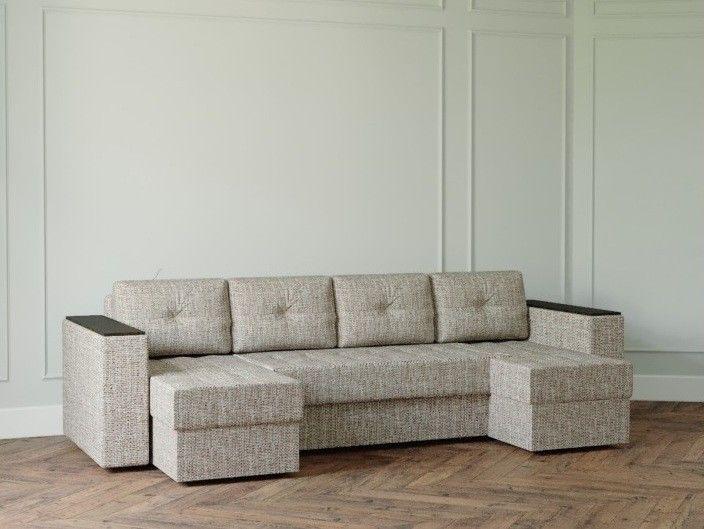 Диван Настоящая мебель Ванкувер Лайт с декором (модель: 0000) бежевый - фото 1