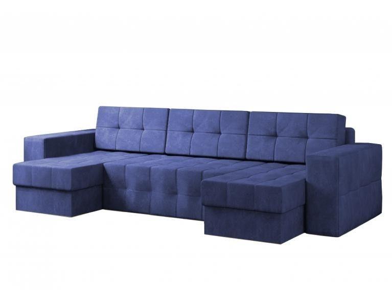 Диван Craftmebel Питсбург П-образный синий вельвет - фото 1