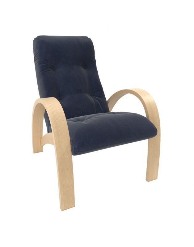 Кресло Impex Модель S7 Verona  натуральное дерево (denim blue) - фото 1