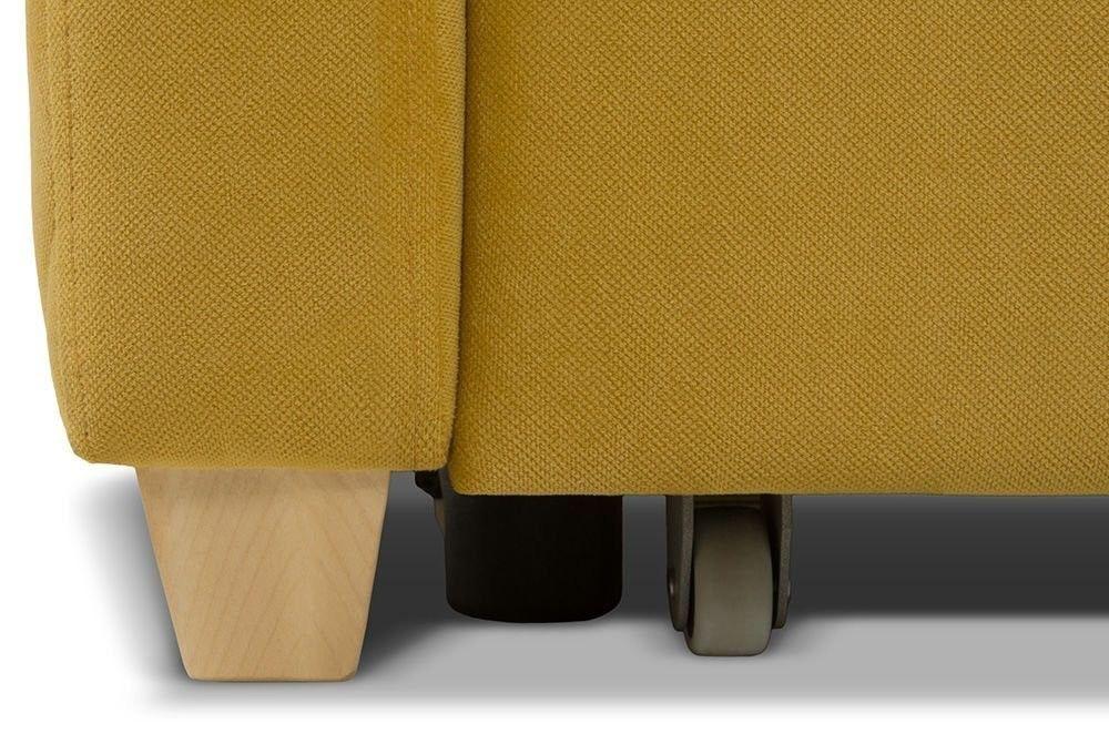 Диван Woodcraft Модульный Гувер-2 Velvet Yellow (уцененный) - фото 26