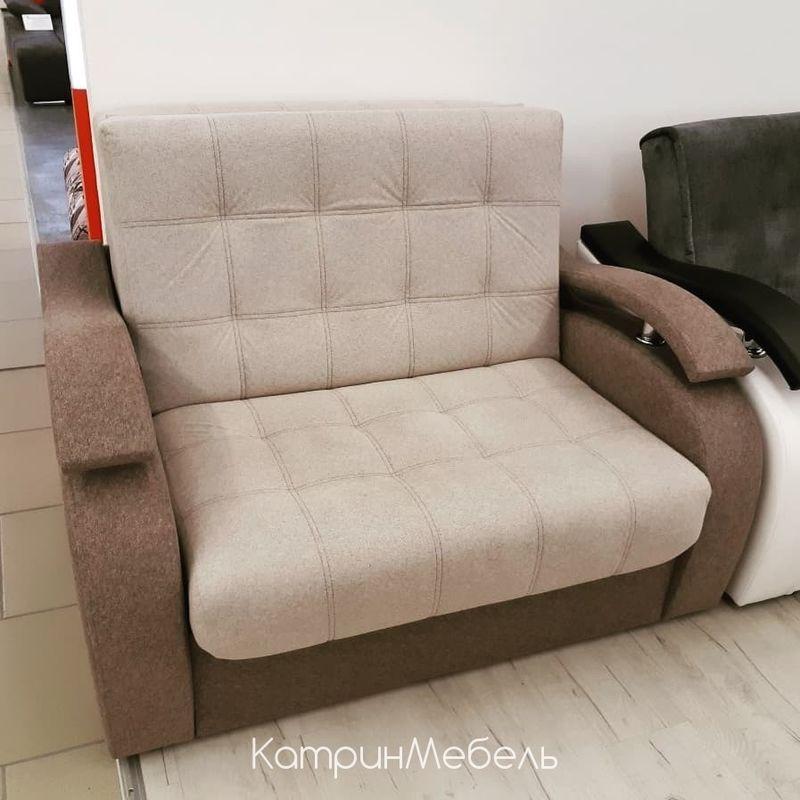 Диван DM-мебель Поло-2 прямой (бежевый/коричневый) - фото 1