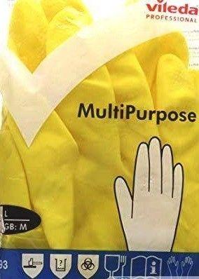 Vileda Перчатки Многоцелевые (размер XL) желтые - фото 1