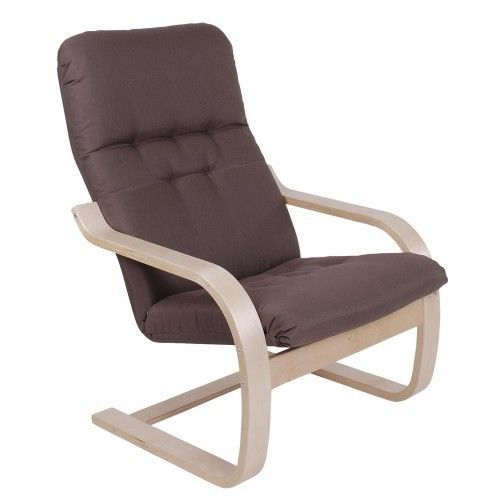 Кресло Greentree Сайма береза/ткань Кофе - фото 1