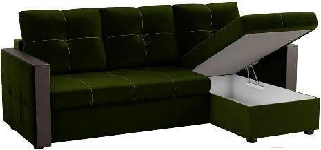 Диван Mebelico Валенсия 147 правый 59278 вельвет зеленый - фото 3