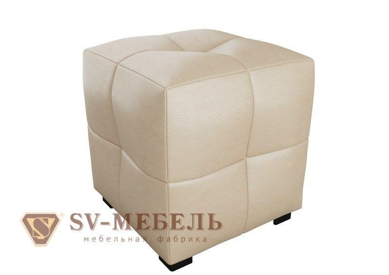 Пуфик SV-Мебель Квадратик Сантекс (бежевый) - фото 1