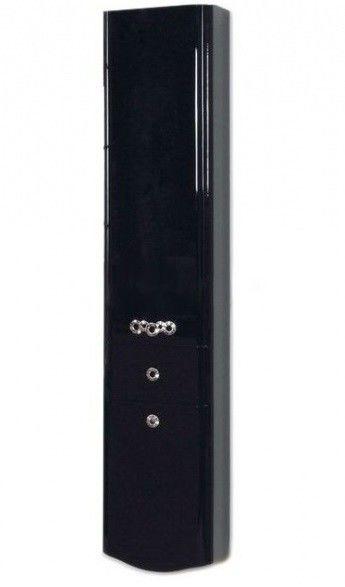 Акватон Шкаф-колонна Венеция черный (1A151003VN95R) - фото 1