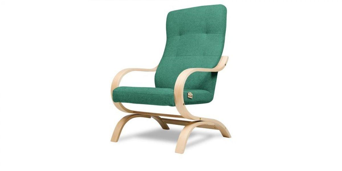 Кресло WOWIN Вейв (Бирюзово-голубая микророгожка) - фото 1