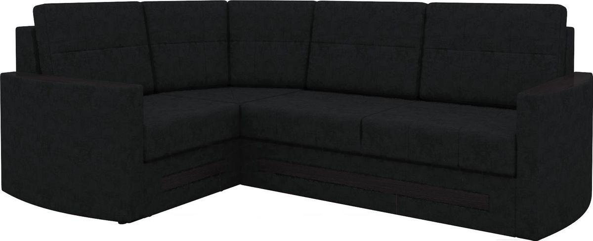 Диван Mebelico Белла У 476 левый вельвет черный - фото 1
