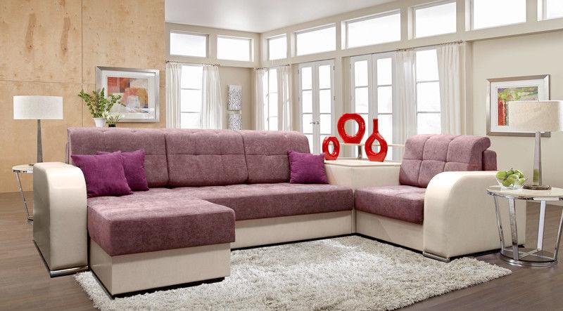 Диван Tiolly Арчи-2 угловой (розовый) - фото 1