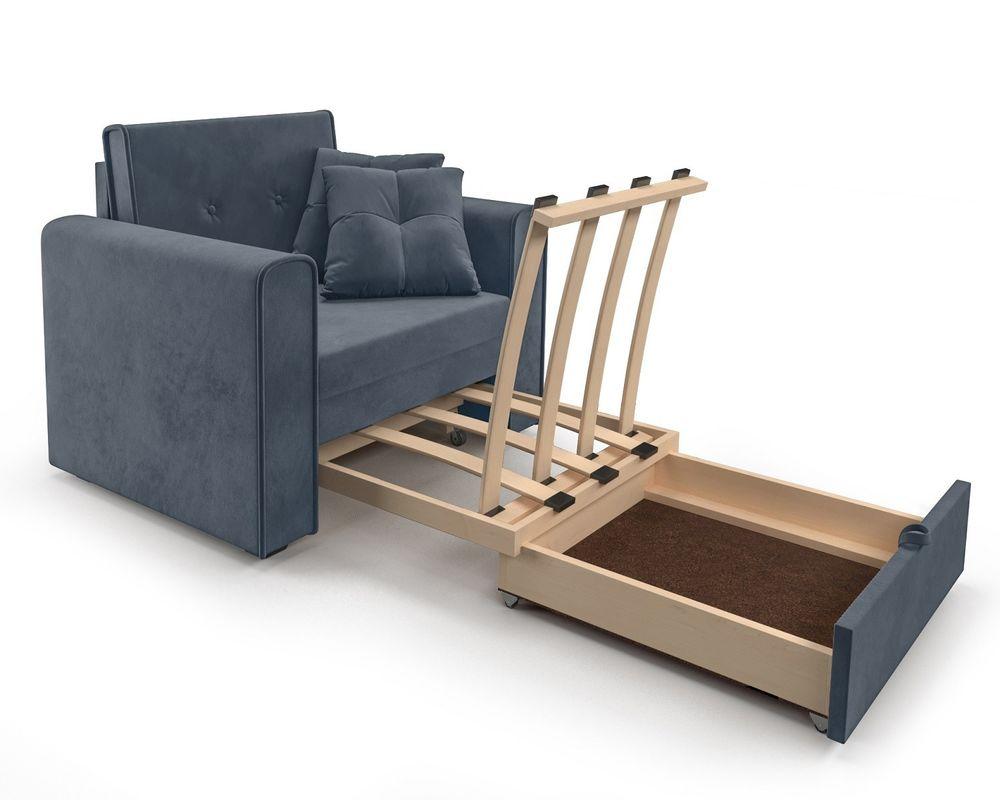 Кресло Мебель-АРС Санта (велюр серо-синий /НВ-178/26) - фото 7