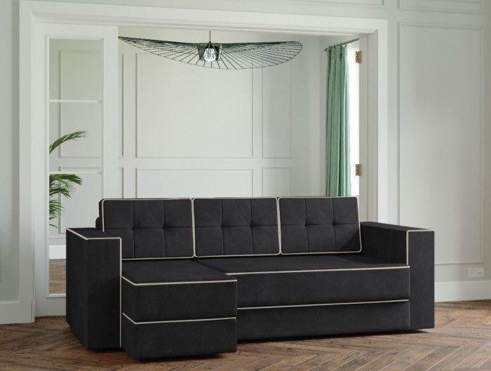 Диван Настоящая мебель Ванкувер Модерн (модель: 00-00000027) чёрный - фото 1