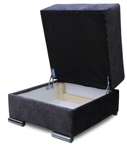 Пуфик Экомебель Милан с нишей для хранения (ткань склад) - фото 5
