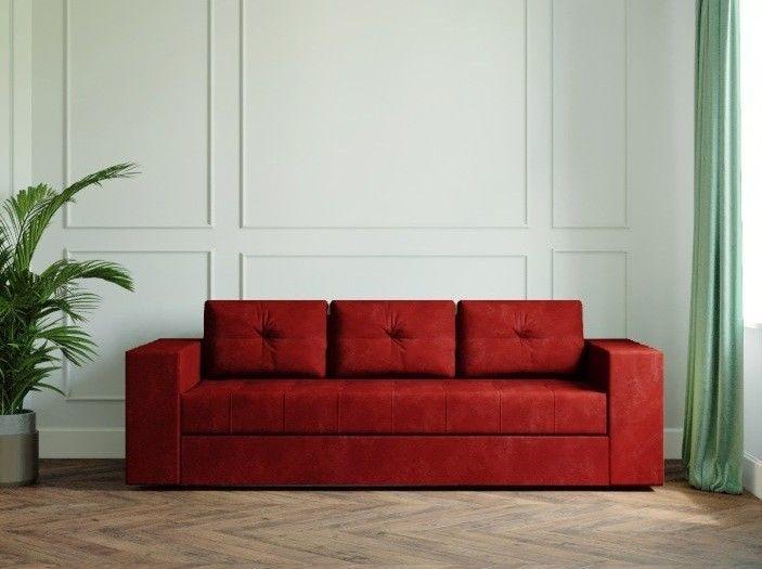 Диван Настоящая мебель Ванкувер Лайт бордовый - фото 1