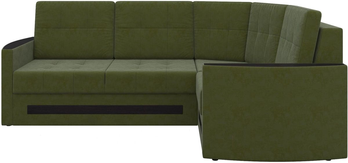 Диван Mebelico Белла У 476 правый вельвет зеленый - фото 2