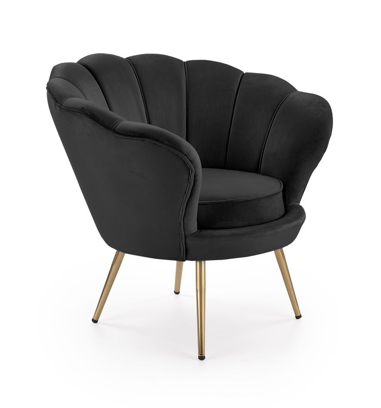 Кресло Halmar AMORINO (черный/золотой) V-CH-AMORINO-FOT-CZARNY - фото 1