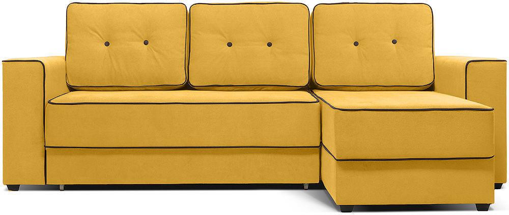 Диван Woodcraft Менли угловой НПБ Velvet Yellow - фото 1