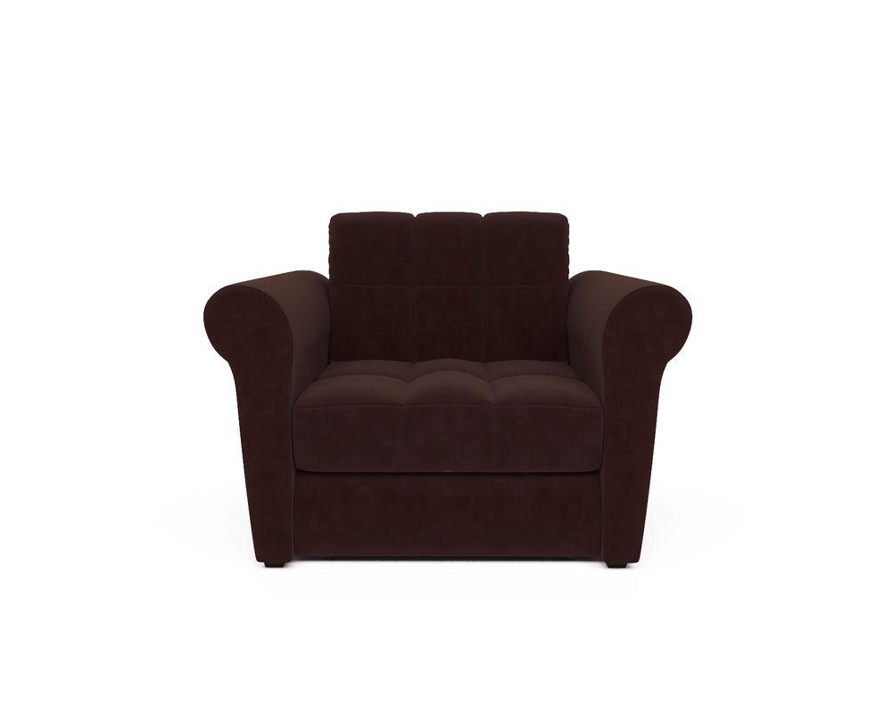 Кресло Мебель-АРС Гранд коричневый микровелюр (Luna 092) - фото 2